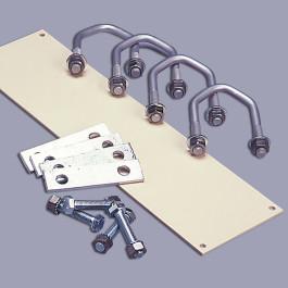 Montagesatz für waagerechte bzw. senkrechte Rohre