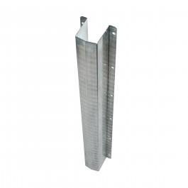 Rohrschutz aus verzinktem Stahl.  Nutzmaße: L. 750 x B. 60 x T. 75 mm