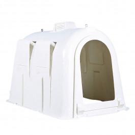 Weisse Hütte für 1 Kalb bis zu 8 Wochen