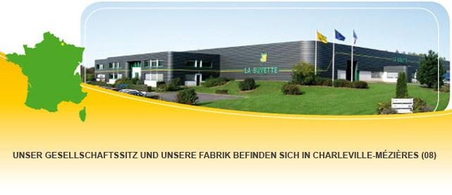 Unser Gesellschaftssitz und unsere Fabrik befinden sich in Charleville-Mézières